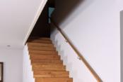 Parkettgestaltung mit Treppe