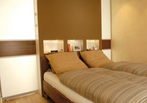Mit raumplus spannend Räume trennen, hier Schlafzimmer und Ankleideraum